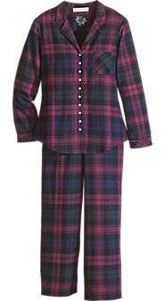 Womens Eileen West Regal Plaid Pajamas