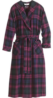 Womens Eileen West Regal Plaid Robe