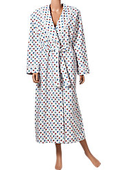 Lanz Floral Dot Flannel Robe
