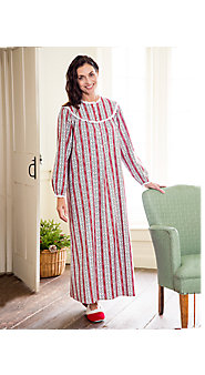 Womens Lanz Cranberry Tyrolean Flannel Nightgown