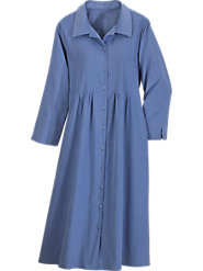 Pintuck Corduroy Dress
