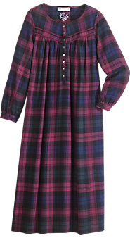 Eileen West Regal Plaid Nightgown