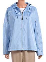 Ladies Zip-Front Hooded Windbreaker