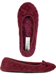Eileen West Quilted Velvet Ballet Slippers