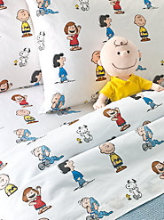Peanuts Gang Percale Sheet Set