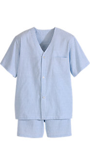 Men's Seersucker Shortie Pajamas