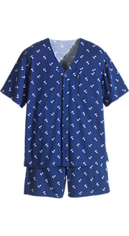Izod Anchor-Print Knit Shortie PJs