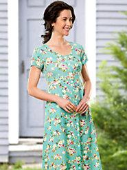 Floral Print Rayon Dress