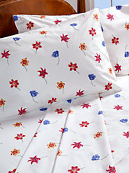 Add Fresh Flair to Your Bedroom All Year Long with Our Flowerbed Percale Sheets