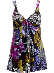 Purple Dot Bow-Front Swimdress