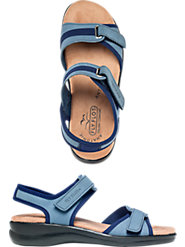 Heavenly Comfort Leather Adjustable Sandals