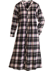 Flannel Pintuck Dress