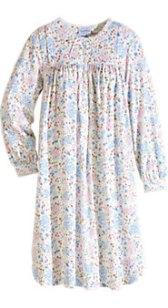 Meadow Blossom Cotton Knit nightgown , a Tribute To Lanz's Signature Quality and Attention To Detail