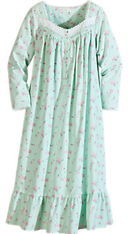 Eileen West Carnation Flannel Nightgown
