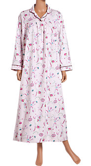 Cameo Print Flannel Nightgown
