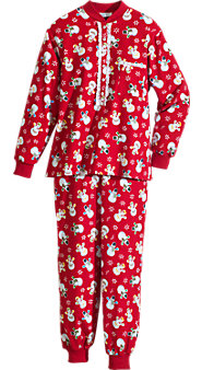 Womens Lanz Printed Flannel Ski Pajamas
