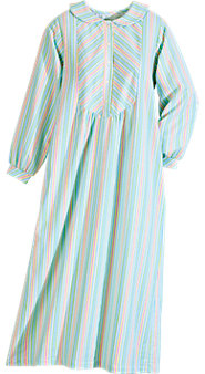 Candy-Striped Flannel Nightgown