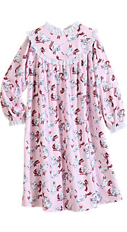 Girls' Lanz Playful Kittens Gown