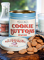 Cookie Tin For Cookie Buttons
