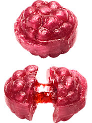 Sweet Raspberry Candies Have a Deliciously Soft Center