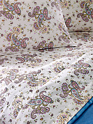 Paisley Flannel Sheet Set