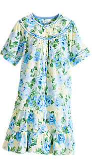 Womens Leisure Life Floral Tiered Duster