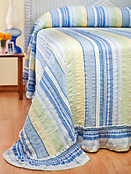 Striped Plissé Bedspread