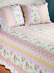 Cottage Stripe Quilt Set