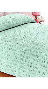 Ruched Seersucker Bedspread