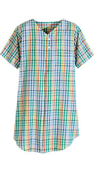 Perfectly Plaid Seersucker Nightshirt