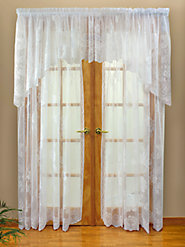 Fanciful Floral Lace Curtain
