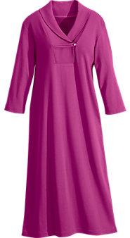 Shawl-Collar Comfort Nightgown