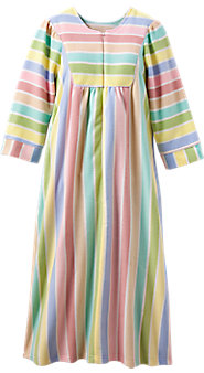 Womens Sherbet Stripe Fleece Robe