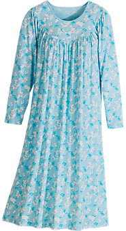 Women's Calida Long-Sleeve Print Knit Nightgown