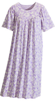 Women's Calida Short-Sleeve Print Knit Nightgown