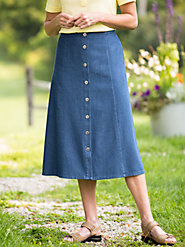 Figure-Flattering 8-Gore Denim Skirt