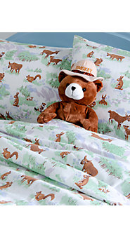 Friends Of the Forest Flannel Sheets