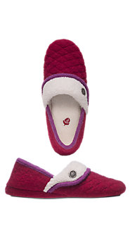 Easy-Stride Boiled Wool Slippers