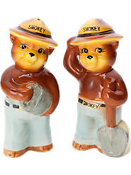 Smokey The Bear Salt and Pepper Shakers