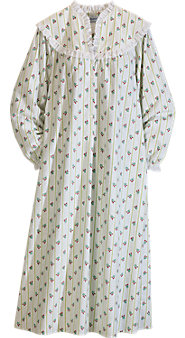 Lanz Winterberry Stripe Nightgown