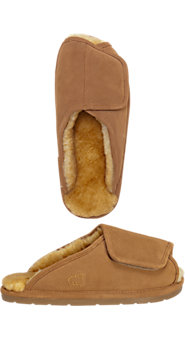 Mens Australian Sheepskin Adjustable Slippers