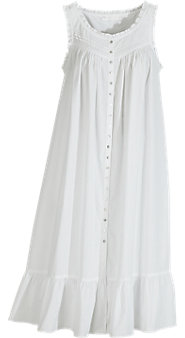 Eileen West Sleeveless Pinafore Robe