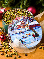 California Pistachios Without Shells in Limited-Edition Holiday Tin