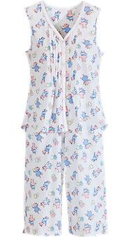 Women's Lanz Sleeveless Summertime Pigs Pajamas