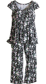Womens Eileen West Midnight Garden Pajamas