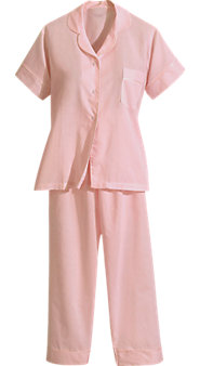 Womens Batiste Long Leg Pajamas