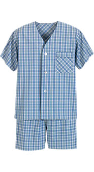 Madras Shortie Pajamas