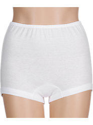 Our Covered-Waist Comfort-Leg Cotton Briefs