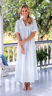 Womens Lanz Tyrolean Cotton Lawn Nightgown