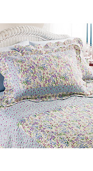 Eileen West Painter's Bloom Quilted Bed Set